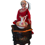 Miniature Limoges Pitcher and Bowl; Doll  House