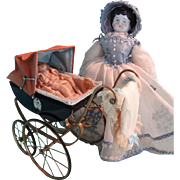 Outstanding Doll House Stroller, Artist Made