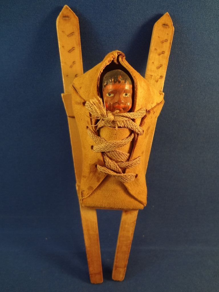 Antique Native American Baby in Carrier
