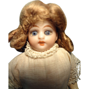 """5"""" Bisque Doll on Composition Body"""