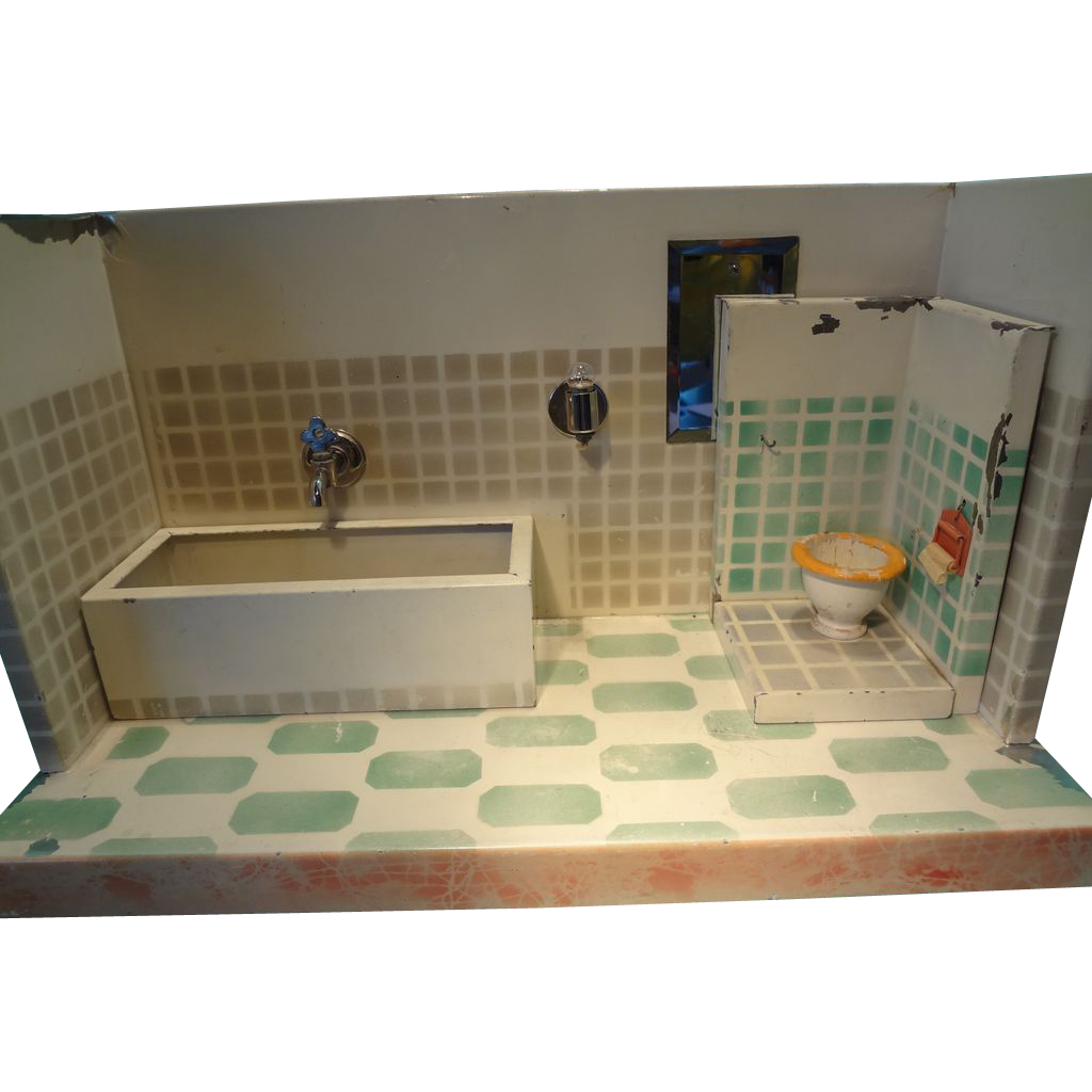 Bathroom In German sale german tin bathroom with bath tub and toilet from