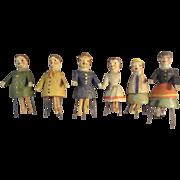 Six Bristle Dolls Germany Erzgebirge