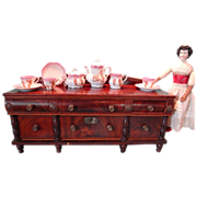 Miniature English Sideboard  Flame Mahogany Quarter Scale Apprentice LAYAWAY AVAILABLE