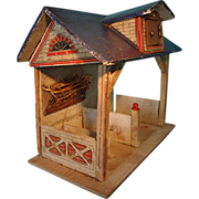 Gottschalk Blue Roof Stable with Hay Rack and Dormer