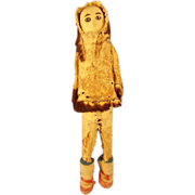 Native Alaskan Bone Carved Doll