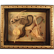 SALE Shadow Box for French Fashion of Antique Vanity Items