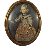 Oval Framed Miniature Picture of Young Girl