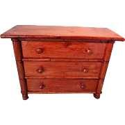 Three Drawer Faux Bamboo Miniature Chest for French Fashion
