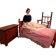 French Faux Bamboo Doll Bed for French Fashion
