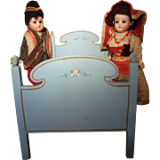 Pair of German Bisque Dolls by Heubach Kopplesdorf in Ethnic Costume