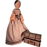 Peg Wooden Doll Nicely Dressed