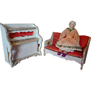 French Doll House Settee and Piano
