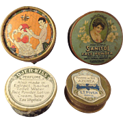Group of Four Miniature Containers of Face Powder Paris