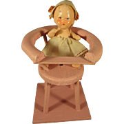 Doll House High Chair with Doll