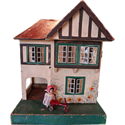 Triang English Cottage Doll House in Small Scale