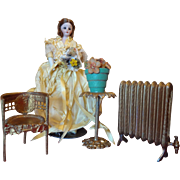 Ormolu Doll House Plant Stand and Plant