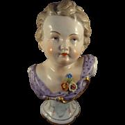Dresden Porcelain Bust of Child