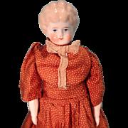 Blonde Hair China Doll in Great Silk Dress Unusual Legs