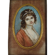 Signed Portrait of Lovely Young Lady Framed