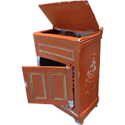 German Soft Metal Ice Box for Doll House Kitchen