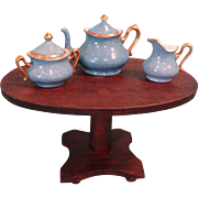 Oval Pedestal Table in Large Doll House Scale