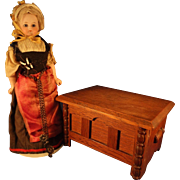Bisque Doll with Glass Eyes and Original Regional Costume