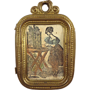 Soft Metal Framed Picture for Doll House