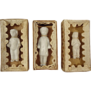 Three Frozen Charlottes in Presentation Boxes