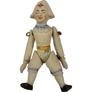 All Bisque Jester with Pin Jointed Limbs