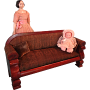 Salesman Sample Sofa Upholstered Doll Size
