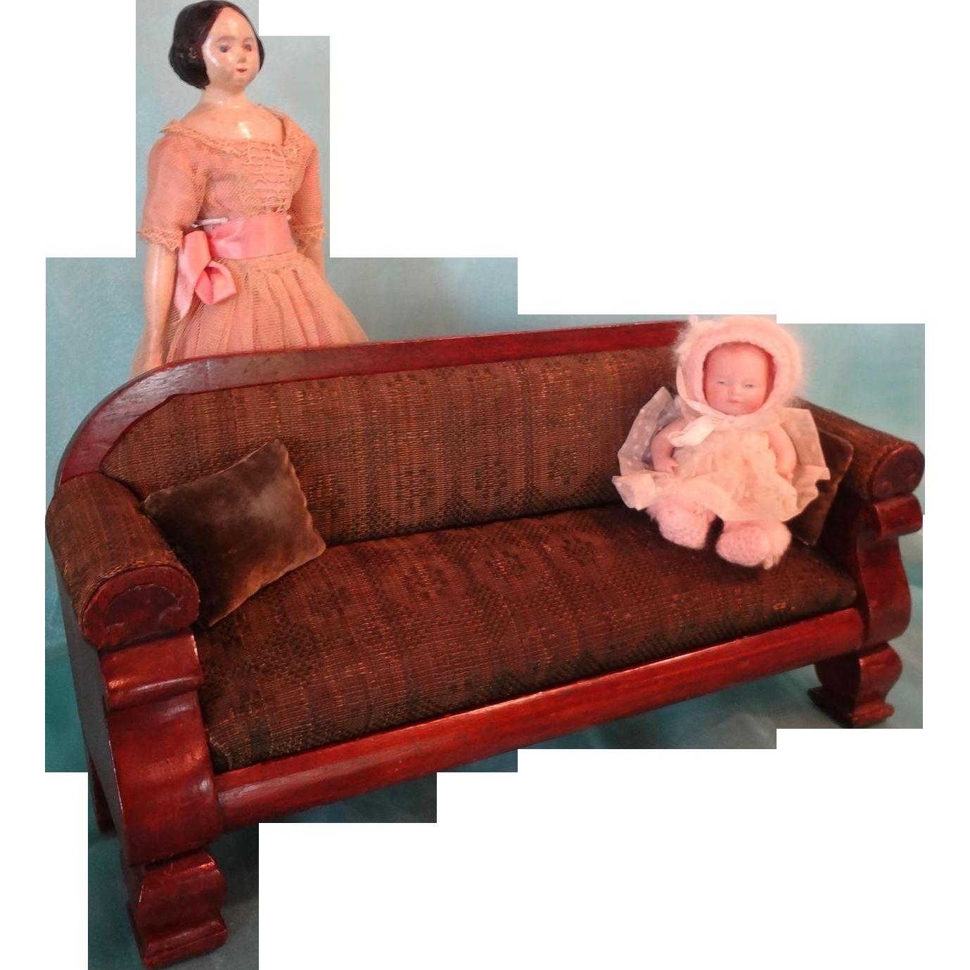 Sale salesman sample sofa upholstered doll size layaway for Furniture layaway