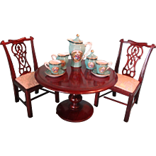 Salesman Sample Round Flip Top Table Miniature for French Fashions LAYAWAY AVAILABLE