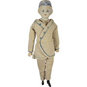 Bonnet Head Doll Parian with Fancy Shoulderplate