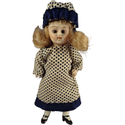 Tiny All Bisque Doll with Glass Eyes