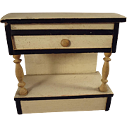Blonde and Ebony Doll House Lift Top Cabinet