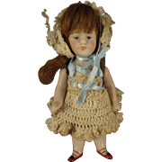 "Kestner 4 1/4"" All Bisque Doll with Open/Close Mouth"