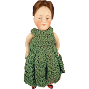 "Kestner 5"" All Bisque Doll with Open/Close Mouth and Jointed Limbs"