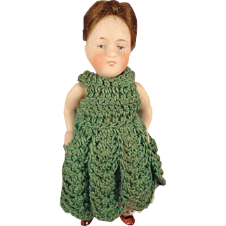 """Kestner 5"""" All Bisque Doll with Open/Close Mouth and Jointed Limbs"""