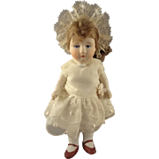 "Chubby 6"" All Bisque Girl with Head Piece"