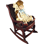 Antique Rocking Chair in Large Doll House Scale