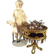 French Antique Miniature Table Box Palais Royal Bronze