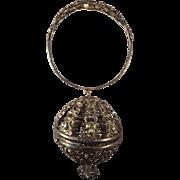 Victorian Silver Thread Holder