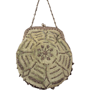 French Velvet and Beaded Purse for French Fashion