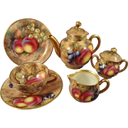 Royal Worcester Miniature Hand Painted Tea Set