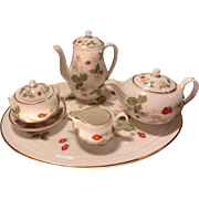 Wedgwood Wild Strawberry Miniature Tea Set