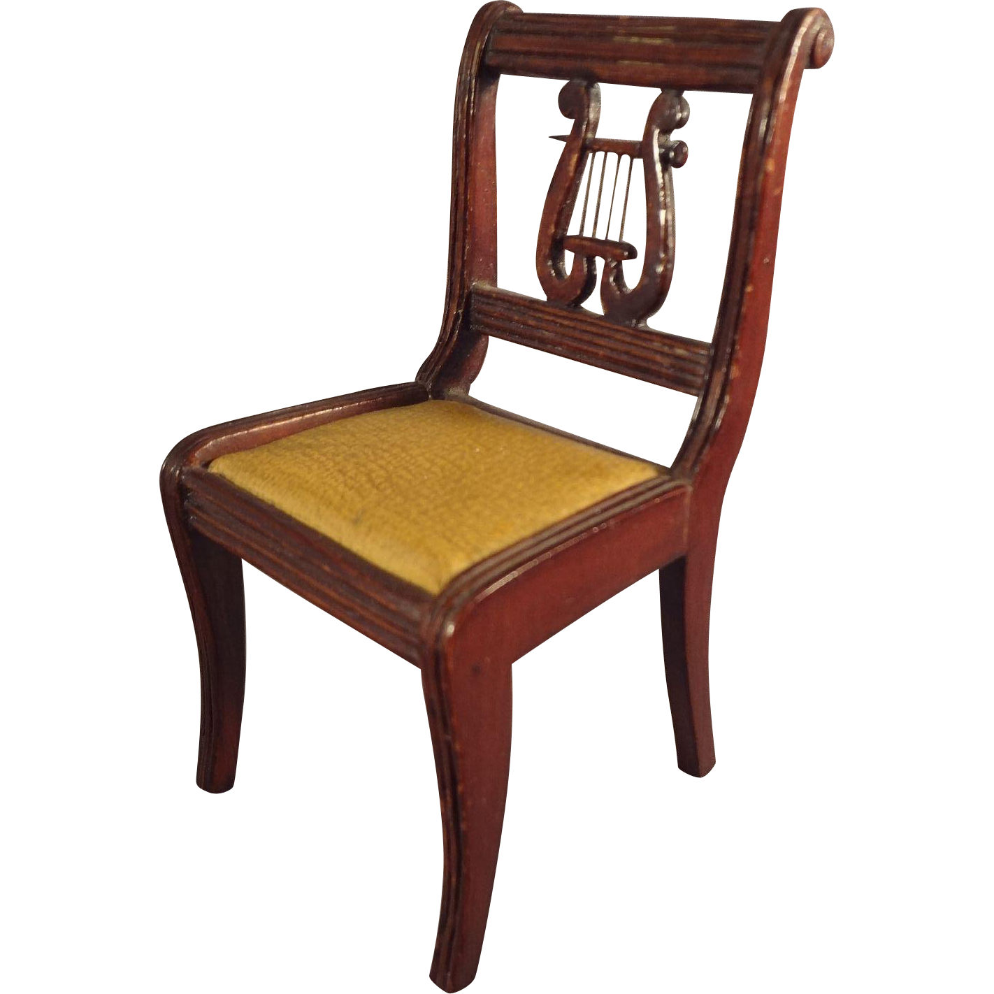 Doll House Scale Lyre Back Chair for Music Room from