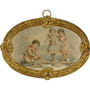 Ormolu Picture of Children Playing