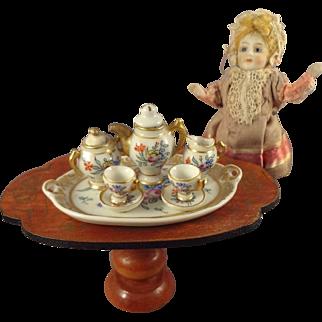 Limoge Miniature Tea Set Hand Painted Porcelain