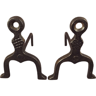 Pair Doll House Andirons for Fireplace