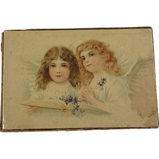 Small Litho Box with Two Beautiful Angels